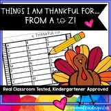 I am Thankful for ... from A to Z! Classic Thanksgiving fun! Creative Challenge!
