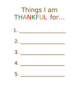 Things I am thankful for...