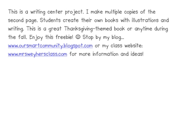 Things I am thankful for student-made writing center book project