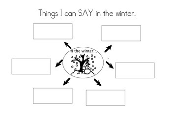 Things I can say cold or winter