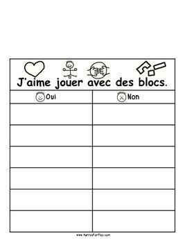 Things I like to do Vol I - Surveys (French)
