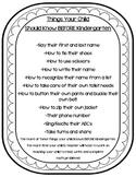 Things Kids Should Know BEFORE Kindergarten