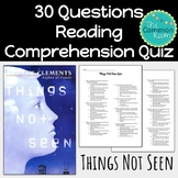 Things Not Seen (Andrew Clements)--Comprehension Test or Quiz