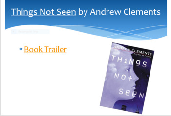 Things Not Seen by Andrew Clements Novel Unit