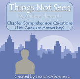 Things Not Seen by Clements, Chapter Comprehension Questions