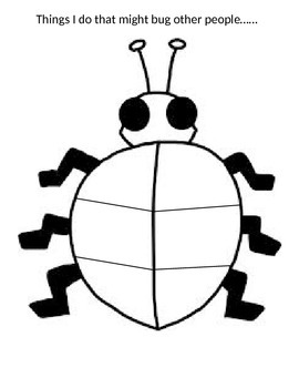 Things That Bug Others worksheet