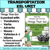 Compare and Contrast - Things That Go! A-J Advanced Gramma