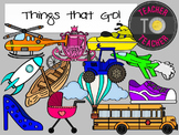 Things That Go Clipart {TeacherToTeacher Clipart}