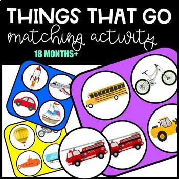 Things That Go Matching Activity - Sorting Mats