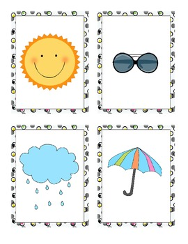 Things That Go Together Cards for Pre-Reading Activity