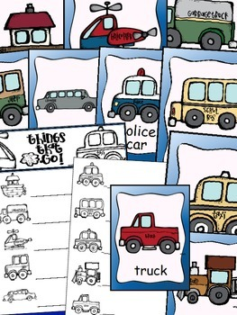 Things That Go {Transportation} Posters (10 Total) & Writing Activity