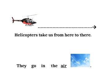 Things that Go in the Air (Adapted Book Printable)