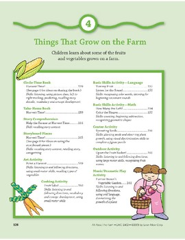 Things That Grow on the Farm: Art and Cooking Activities