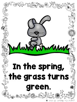 Things That Happen in the Spring  (An Emergent Reader and Teacher Lap Book)