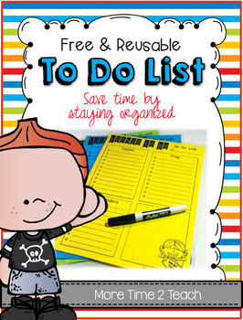 Things To Do List {Free & Reusable}