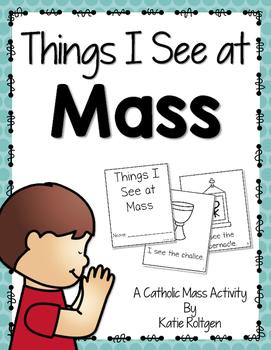 Things We See at Mass Catholic Activity Set