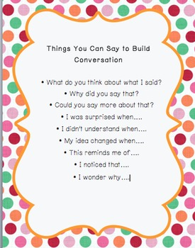 Things You Can Say to Build Conversation Poster