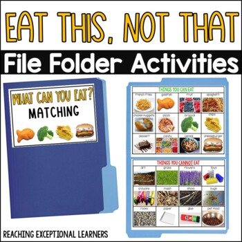 Healthy or Unhealthy File Folder Activity