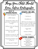 Things Your Child Should Know Before Entering Kindergarten