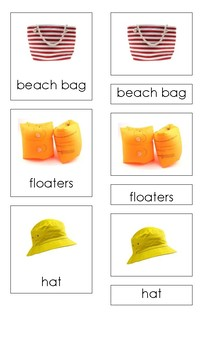 Things for Summer (3 Part Montessori Cards)