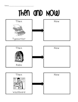 Things in the Past Activity
