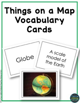 Things on a Map Vocabulary Cards