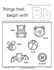 Things that Begin with A-Z Worksheets