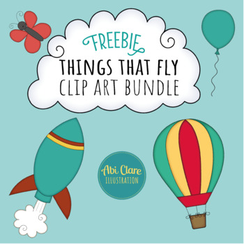 Things that Fly Clip Art Bundle (FREEBIE)