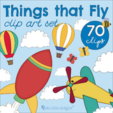 Things that Fly / Up in the Sky Clip Art Set (Special!)