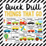 Quick Drill Things that GO! {for speech therapy or any ski