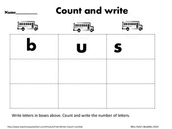 Things that Go- Count & Write Letters
