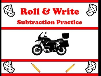 Things that Go- Roll & Write Subtraction
