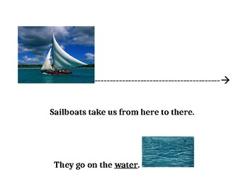 Things that Go on Water (Adapted Book Printable)