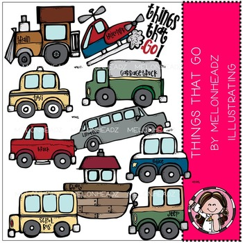 Things that go clip art - COMBO PACK- by Melonheadz