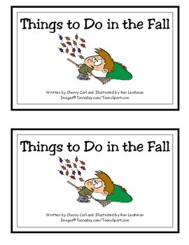 Things to Do in the Fall Reproducible Guided Reader