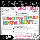 Things to Know About {End of Year Writing to Future Class}