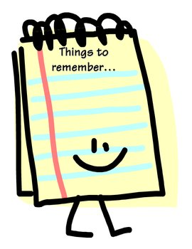 Things to Remember Notepaper/Display
