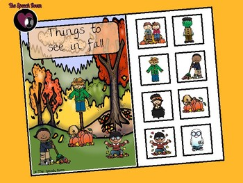 Things to See in Fall - Interactive Book and Picture Scene