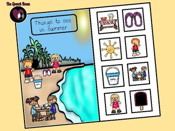 Things to See in Summer - Interactive Book and Picture Scene