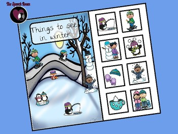 Things to See in Winter - Interactive Book and Picture Scene