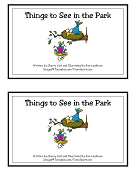 Things to See in the Park Reproducible Guided Reader