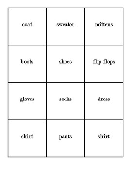 Things to Wear flashcards