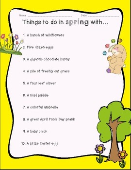 Things to do in spring with...