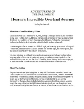 Think About History: Hearne's Incredible Overland Journey