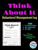 Think About It - Behavior Management Log