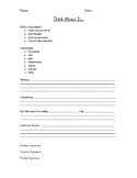 Think About It Behavior Reflection Sheet