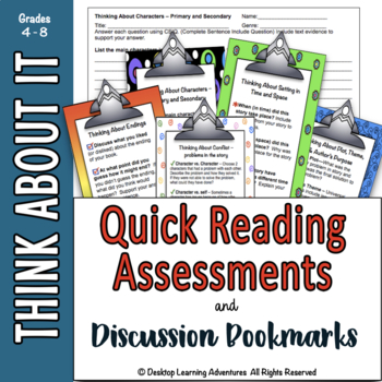 Quick Reading Assessments & Discussion Bookmarks