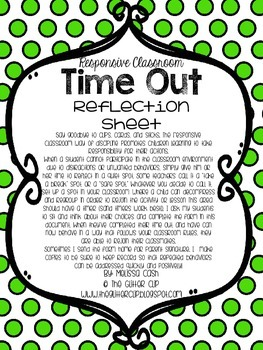 Think About It Reflection Sheet