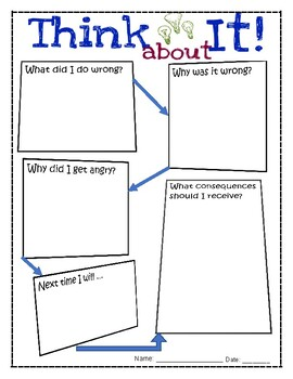 Think About It Reflection Sheet for Upper Grades