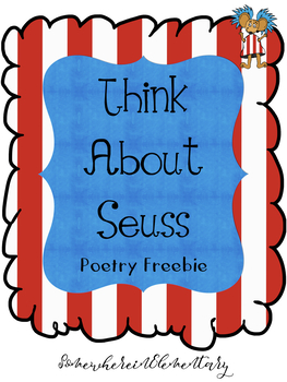 Think About Seuss Poetry Freebie